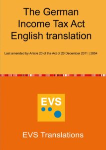 EVS Translations Publishes the English Translation of the German Income Tax Act