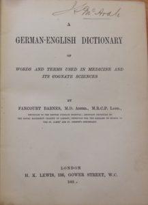 Fancourt Barnes und sein Wörterbuch der medizinischen Fachbegriffe