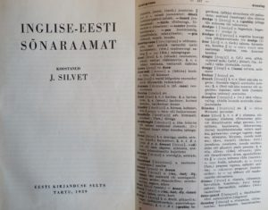 First English-Estonian Dictionary – Johannes Silvet