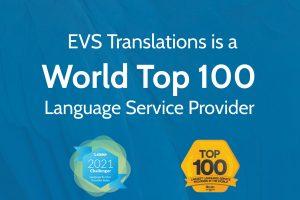 EVS Translations е в Топ 100 на най-големите доставчици на езикови услуги в света